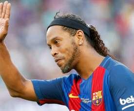 Maxi López falou do seu tempo no Barcelona. AFP