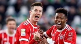 Lewandowski e Müller bisaram e Coman fizeram os gols da partida. EFE