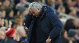 O difícil começo de Mourinho. AFP