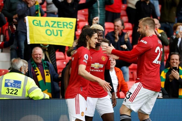 Fulham frustre Cavani et le retour du public d'Old Trafford. AFP