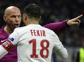 Fekir was convinced he should have had a penalty in the second half. AFP
