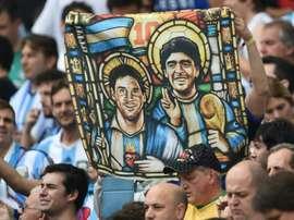 Josep Maria Minguella has spoken about Maradona's time at Barcelona. AFP