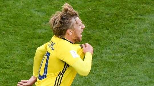 Suecia sigue a su ritmo en el Mundial. AFP