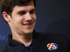 Dinamos forward Mario Situm of Croatia attends a press conference on the eve of the UEFA Champions League football match Juventus Vs GNK Dinamo Zagreb on December 6, 2016 at the Juventus Stadium in Turin