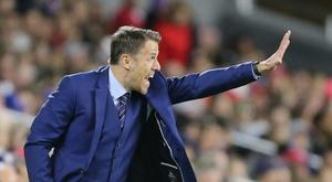 Phil Neville's England Women side were beaten by Sweden. AFP