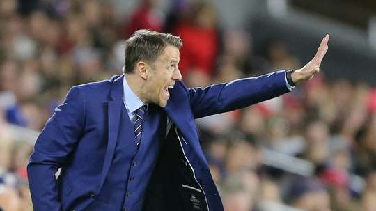 Phil Neville was appointed head coach of the England womens team in January 2018. AFP