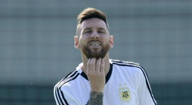 Messi jouerait avant-centre face à la France. EFE
