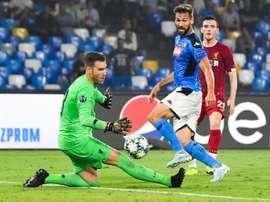 Llorente, heureux de faire ses grands débuts à San Paolo. AFP