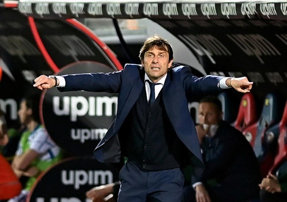 Conte sueña con dirigir al Manchester City. AFP