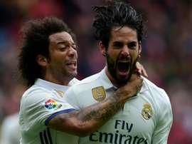 Marcelo e Isco mostram que recuperaram o seu melhor nível com Zidane. AFP
