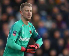 Hart in action for West Ham last season. AFP