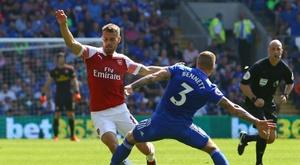El jugador galés está en su último año de contrato con el Arsenal. AFP
