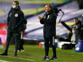 Brendan Rodgers joked after Leicester won 1-4 at Leeds. AFP
