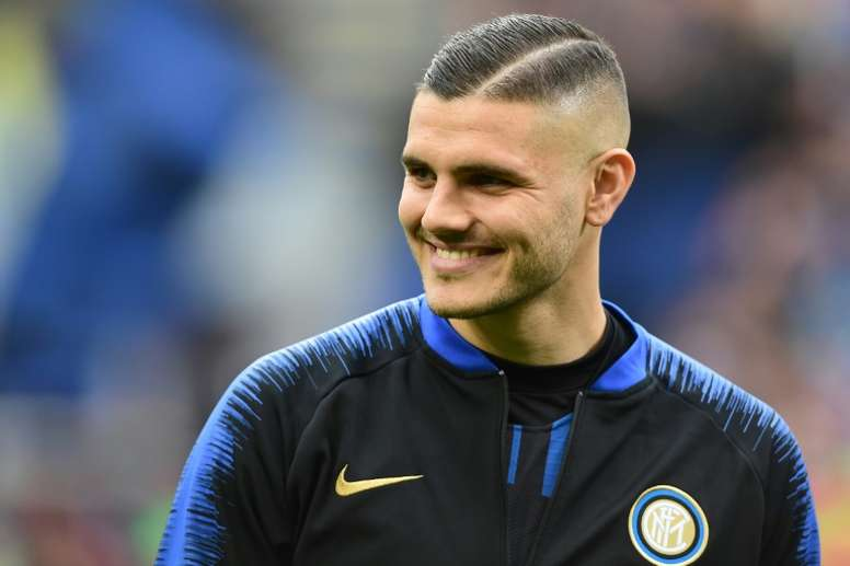 Icardi wants to keep playing for Inter Milan. AFP
