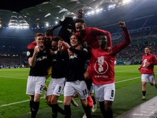 RB Leipzig have reached their first ever DFP Pokal final. AFP