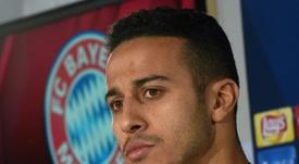 El Liverpool no es la única 'novia' de Thiago en la Premier. AFP