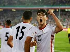 Azmoun gave Iran the lead during the 1-1 draw in Kazan. AFP