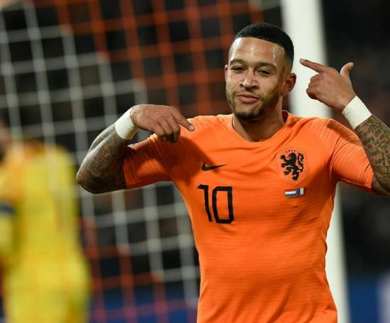 Depay netted twice in Holland's let 3-1 victory triumph over Northern Ireland. AFP