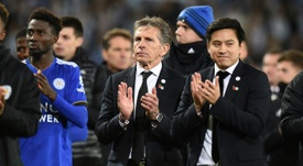 Puel is targeting success in the Carabao Cup. AFP