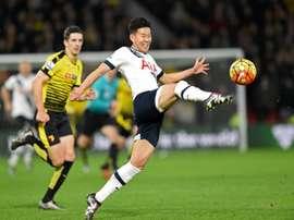 Son foi o autor do gol dos visitantes. AFP