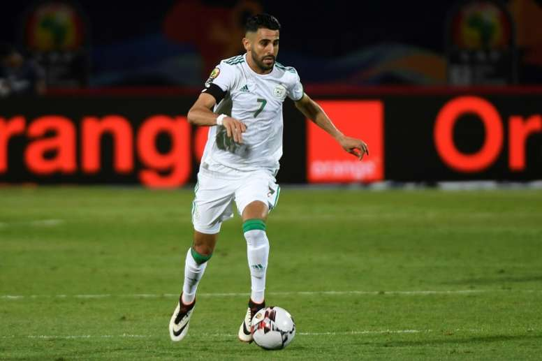Algeria captain Riyad Mahrez has been the standout forward of the Africa Cup of Nations. AFP