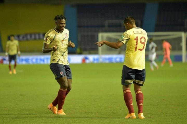 Zapata y Muriel lideran una lista de Colombia para la Copa América sin James. AFP