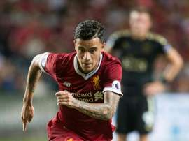 Coutinho scored the winner as Liverpool beat Leicester 2-1 in Hong Kong. AFP