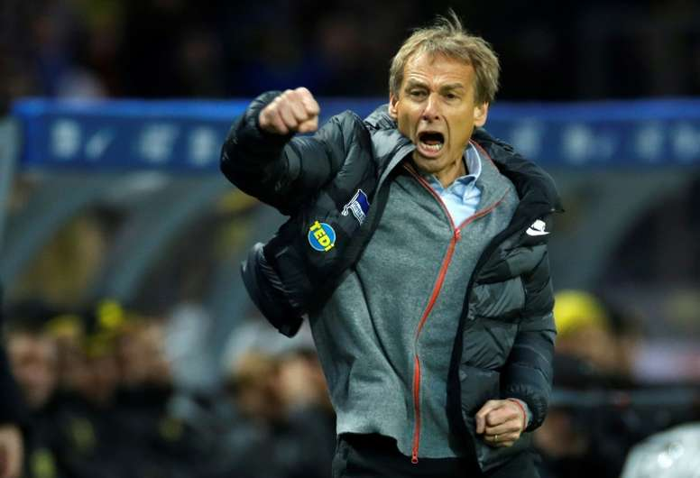 Hertha feeling 'the fire' under Klinsmann in relegation battle. AFP