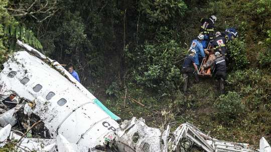 Low fuel was reportedly the reason for the Chapecoense plane crash. AFP
