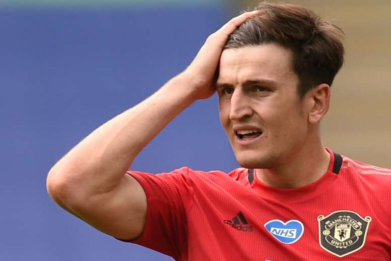 Harry Maguire was absent as his trial started in Greece. AFP