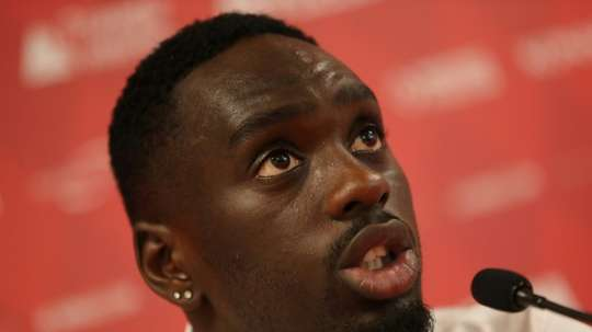 Leeds sign forward Jean-Kevin Augustin to boost promotion push. AFP
