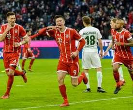 O Bayern bateu o Hoffenheim por 5-2. AFP