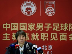 Proud Li Tie says coaching China 'a very important dream'. AFP