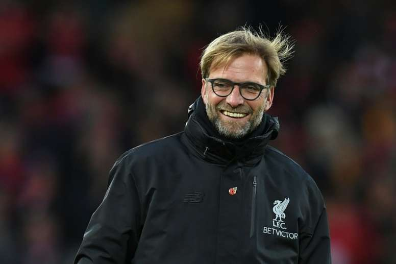 The 16-year-old could join Liverpool manager Klopp at Anfield. AFP