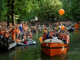 Utrecht turned orange on Monday to celebrate the Netherlands' first women's Euro title. AFP