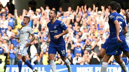 Hazard scored a hat-trick for his Chelsea side. AFP