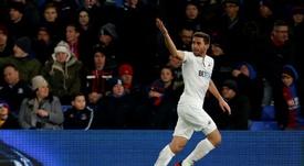 El lateral español, historia del Swansea. AFP