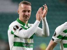 Leigh Griffiths helped Celtic thrash St Mirren at Parkhead. AFP