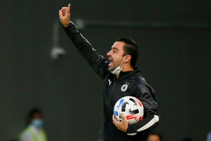 Xavi fue expulsado en el encuentro ante el Al-Nassr. AFP