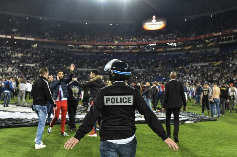 French government bans Lyon fans from travelling to Marseille. AFP