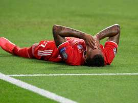 Jerome Boateng was forced off by injury during the first half of the Champions League final. AFP