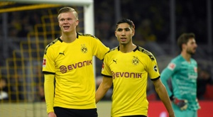 Haaland extends Dortmund tally to nine in six games. AFP