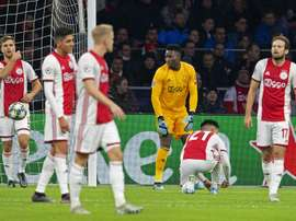 Ajax lost 1-0. AFP