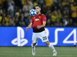 Dalot impressed on his Manchester United debut. AFP