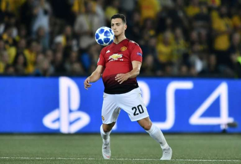 Dalot impressed on his Manchester United debut. AFP