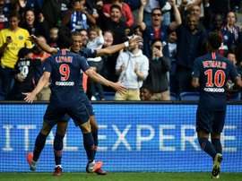 The 'MCN' combined to fire PSG to victory. AFP