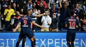 Mbappé, Cavani e Neymar. AFP
