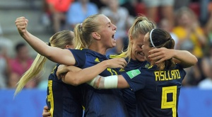 Sweden beat Germany to reach the last four of the Womens World Cup. AFP