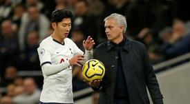 Mourinho puso a Son al nivel de Ronaldo. AFP