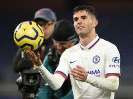 O estranho primeiro dia de Pulisic no Chelsea. AFP